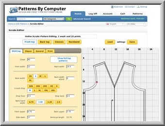 An online sewing pattern editing system and store. PHP, Javascript, SVG, Opencart